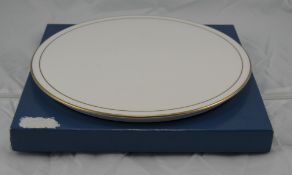 Royal Worcester Contessa Cake Plate White With Gilt Edging, 11 Inch Diameter, Boxed