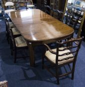 Mid Victorian Mahogany Extending Dining Table With 2 Extra Leaves Gadrooned Edge Raised On 4
