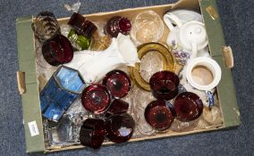 Collection of Assorted Pottery and Glass Ware