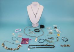 A Good Collection of Vintage Stone Set Jewellery, Some Silver Set ( 22 ) Pieces In Total.