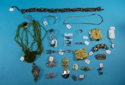 Collection Of Costume/Silver Jewellery, Comprising Bangle, Brooches, Buckle Earrings etc