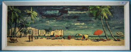 Framed Print Beach Scene