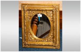 Gilt Framed Mirror. 16 x 14 Inches