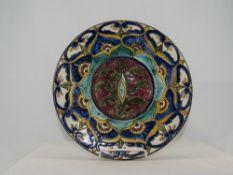 A Carlo Manzoni Art Pottery Circular Dis