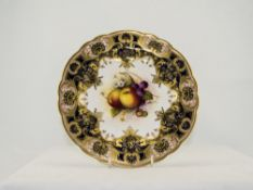 Royal Worcester Hand Painted Cabinet Pla