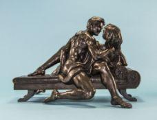 R Cameron Modern Bronzed Resin Sculpture