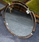 1950's Circular Mirror In Art Deco Style
