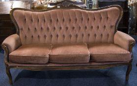 Italian 19thC Style Camel Back Sofa, Pin