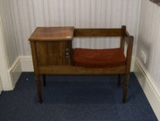 Telephone Hall Chair padded seat with si