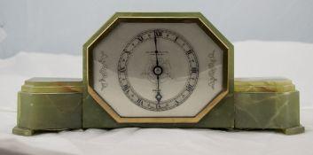 Art Deco Elliott Onyx Cased Mantel Clock