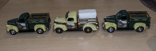 Thomas Kinkade Diecast Metal Trucks ( 3