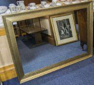 Modern Gilt Framed Wall Mirror, 35x46 In
