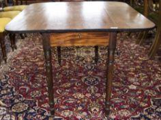 19thC Mahogany Pembroke Table, D Shaped