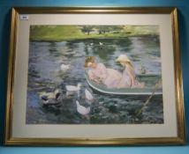 Large Framed Print After Mary Cassatt Ti