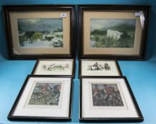 Collection Of 6 Framed Prints