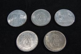 Swedish King Gustaf - Silver 5 Kroner Crowns, Dates 1952 ( 3 ) In Total + 2 Austrian Winter