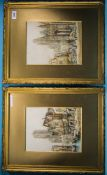 Henri Schafer (1833-1916) Pair Of Watercolours, Both Signed, And Titled Morlaix, Brittany And Rouen,