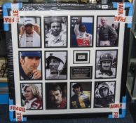 Formula 1 Interest, British F1 Legends Montage Depicting 11 F1 Drivers With Original Stirling Moss