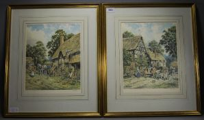 John. L. Chapman 1946 - Pair of Artist Pencil Signed and Ltd Edition Colour Prints, Titled '