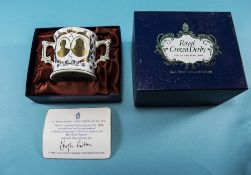 Royal Crown Derby 'Prince Andrew and Sarah Ferguson Wedding' Loving Cup Limited Edition number 526/