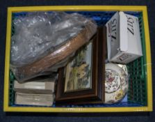 Box of Assorted Glass and Collectables.