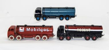 Three Dinky Diecast Models No 942 Foden Tanker Regent, Mobilgas + 1 Other