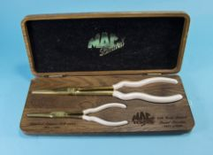 Mac Limited Cased Limited Edition Tools containing two sets of gold plated tongs