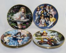 Eight Assorted Cabinet Plates 'Children