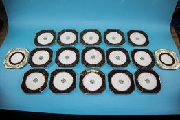 Collection of 18 Octagonal Side Plates w