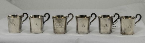 Swedish Retro Silver Set of Six Drinking