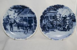 Delft Blue Cabinet Plate, hand decorated
