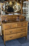 Edwardian Mahogany Inlaid Dressing Table