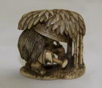Japanese Very Fine 19th Century Ivory Ne