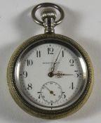 Boston Watch Co - Keyless Silver Gilt, S