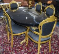 Italian Style Dining Table And 6 Chairs,