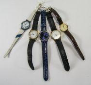 Collection Of 5 Quartz Wristwatches