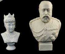 A Parian Bust of King Edward VII. 7.1/8
