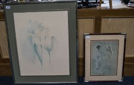 Two Modern Decorative Framed Prints