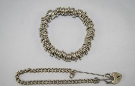 A Silver Links Quality Expanding Bracele