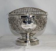 Edwardian Impressive Silver Rose Bowl wi