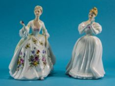 Royal Doulton Figures ( 2 ) In Total. 1/