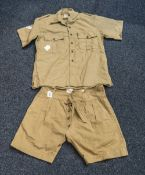 Military Interest 1960's Khaki Shorts An