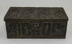 Early 20thC Gothic Style Cigar Box/Caske