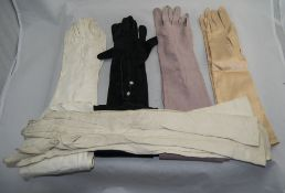 Five Pairs of Kid Leather Long Gloves.