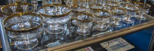 Set Of 11 Fruit Glasses & 3 Fruit Dishes