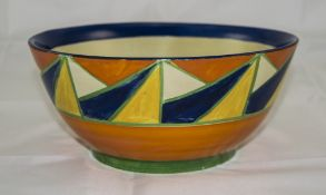 Clarice Cliff Geometric Pattern Bowl, a