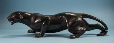 20thC Bronze Cased Figure Of A Black Pan