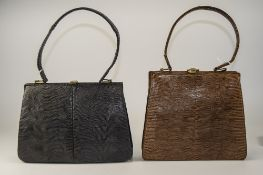 Waldybag 1930's Ladies Snakeskin Light B