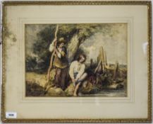 W Hunt - Titled ' Brothers by a Stream '