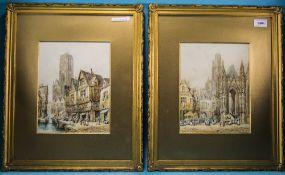 Henri Schafer (1833-1916) Pair Of Waterc
